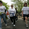 From left, Jennifer Bubriski of Cambridge, Judy Bubriski of Hamilton an WInnie Renni of Wenham, participate in the 18th Annual Walk for HAWC on Sunday morning. Each year, the Walk for HAWC raises over $150,000 to provide life-saving services for victims of domestic violence and their children on the North Shore. Photo by Deborah Parker/April 25, 2010