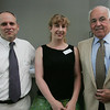 From left, Paul Marquis, energy manager for the City of Salem, Alicia Diozzi of Grean Tea Yoga and Richard Minsky of Jos. A. Bank, attend Coffee Connection, a Salem Chamber of Commerce event, held at Kim Indresano Photography in downtown Salem Thursday morning. Photo by Deborah Parker/July 8, 2010