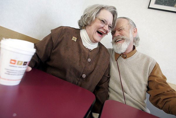 Beverly : Fifty years after graduating high school, high school sweethears, Deanna and John Christiansen, have reunited and married. Photo by Deborah Parker/Salem News Friday, February 13, 2009