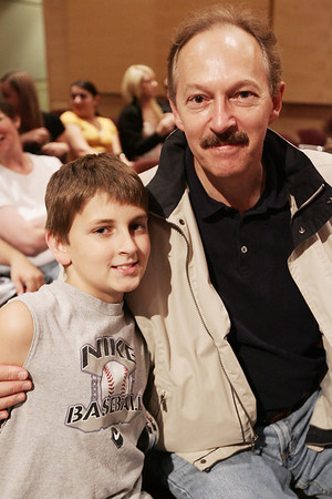 Terry and Kevin Legere, 10, of Danvers pose together while enjoying Danvers Idol held at the Holton Richmond Middle School Tuesday evening as part of Danvers Family Festival. Photo by Deborah Parker/June 30, 2009