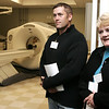 Danvers: Roger and Denise Fessenden of Peabody tour the CT Scanning area at the new Mass General/North Shore Cancer Center Outpatient Care during the Opening Celebration of the facility.  Photo by Deborah Parker/May 14, 2009