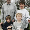 Beverly: John Hildreth of Beverly and his wife Joanna along with their two sons, J D and Josh gather at Veterans Park before starting the Beverly Magical History Tour, a historical scavenger hunt through downtown Beverly. The event was hosted by Beverly Main Streets. Photo by Deborah Parker/Salem News April 18, 2009.