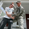 Beverly: Ryan Hamilton is home on leave from his tour of duty in Iraq as a member of the U.S. Army. His younger brother, D.J., a senior at Beverly High School, is following in his footsteps -- he has enlisted and will leave for boot camp in July. Photo by Deborah Parker/Salem News Thursday, March 26, 2009.