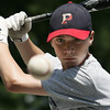 Peabody West's Austin Batchelder participates in a batting drill at the teams practice at Cy Tenney field yesterday afternoon. Photo by Deborah Parker/July 28, 2009