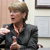 Martha Coakley, candidate for U.S. Senate, spoke to the Salem News editorial board Friday afternoon. Photo by Deborah Parke/November 6, 2009