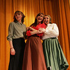 Convenant Christian Academy students from left, Jenny Howland, Moriah Gross and Heidi Holloway perform a scene from Fiddler on the Roof at the Hogan Regional Center Thursday afternoon. The Academy's  Upper School students will be presenting Fiddler on the Roof, Jr. on March 26 and 27 at 7:00pm at the Hogan Regional Center in Danvers MA.  The musical is Directed by Andrew Hoover with Musical Direction by Peter Vantine. Photo by Deborah Parker/March 25, 2010