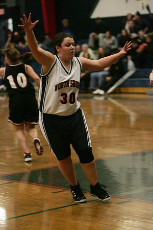 Junior point guard Heather Hicks, who is coming of an ACL injury, plays in a game against Chelsea. Photo by Deborah Parker/February 1, 2009