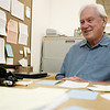 Robert Teel talks about being the new interim principal at Saltonstall School. Photo by Deborah Parker/Septmeber 3, 2009