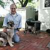 Paul Konstadt was our barbecuing recently when he was charged by a rabid groundhog. Penny, his dog, eventually killed the  groundhog. photo by deborah parker/june 14, 2010<br /> <br /> , Paul Konstadt was our barbecuing recently when he was charged by a rabid groundhog. Penny, his dog, eventually killed the  groundhog. photo by deborah parker/june 14, 2010