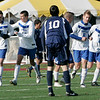 Lowell: Hamilton-Wenham's Jon Britton watches as Bromfield celebrates their fourth goal against Hamilton-Wenham during the Division 3 State Championship held in Lowell. Hamilton-Wenham lost 4-2. Photo by Deborah Parker/Salem News Saturday November 22, 2008.