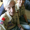 Boy Scout Troop 59  will honor Hal and Joan Comeau for their years of service. Hal, now 86, spent nearly 40 years leading the boys. Photo by Deborah Parker/November 20, 2009