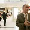 North Shore Mall manager Mark Whiting talks about this year's Black Friday compared to last and the increase in customers this year. PHoto by deborah parker/november 26, 2010