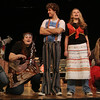 Hamilton: Mckenzie Love, a senior at Hamilton-Wenham Regional High School leads a song during rehearsal for the school's upcoming musical, Godspell. Photo by Deborah Parker/Salem News Thursday, November 13, 2008