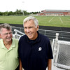 This fall, Ipswich will dedicate its track to Ken Spellman, (right) who coached from 1969 until this season. And the football stadium will be named Jack Welch Stadium in honor of Welch, who coached football for 37 years. These two men coached together for 36 years. Photo by Deborah Parker/August 29, 2009