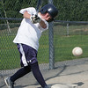 Beverly West Little League player Nick Cotraro takes a swing during practice at Vittori Field in Beverly Friday afternoon. Photo by Deborah Parker/June 18, 2010