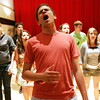 Salem High School senior, David Karam belts out a solo during rehearsal with the a cappella group, Witch Pitch, Monday evening. The group will be having their first exclusive concert on Friday. Photo by Deborah Parker/May 24, 2010
