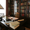 The library of the Phillips House. Photo by Deborah Parker/February 17, 2010