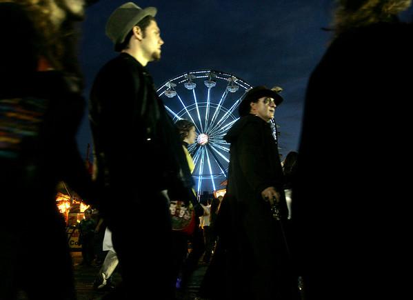 Halloween revelers walk down Derby Street Halloween evening. Photo by Deborah Parker/October 31, 2009