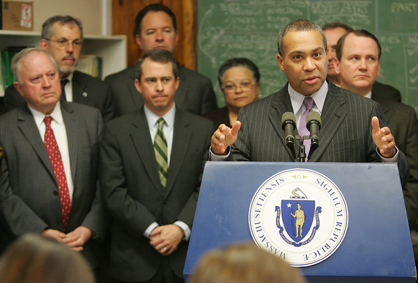 Governor Deval Patrick held a press conference following a cabinet meeting at Essex Agricultural and Technical High School this morning to discuss the future merger with North Shore Technical High School and the formation of a new regional vocational and agricultural high school.