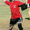 Salem's Julia Jennings works on a drill during practice at Mack Park Friday afternoon. Photo by Deborah Parker/March 19, 2010