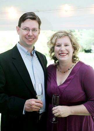 George and Keelin Dawe of Danvers pose together while attending the annual Baron Mayor Champagne Reception held at the Glen Magna Farms in Endicott Park Friday evening. Photo by Deborah Parker/June 19, 2009