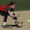 Marblehead's K. Digiammarino (No first names in roster)  fields a ball during yesterday's game against Beverly. Photo by Deborah Parker/May 21, 2009