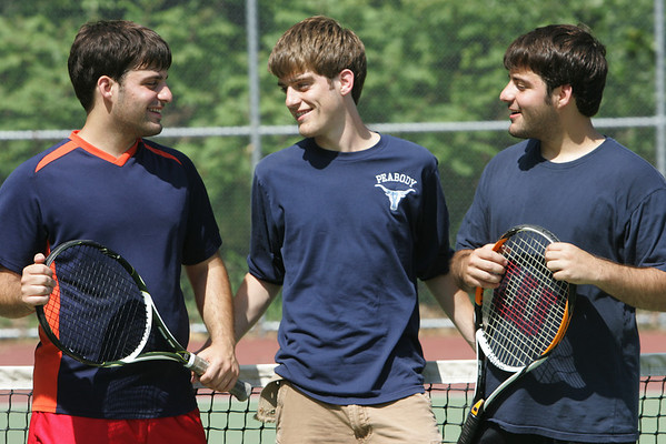 The McGlone triplets are three brothers who are all involved in sports at Peabody High School. From left are, Sean, Kyle and Ryan. Photo by Deborah Parker/May 25, 2010<br /> , The McGlone triplets are three brothers who are all involved in sports at Peabody High School. From left are, Sean, Kyle and Ryan. Photo by Deborah Parker/May 25, 2010