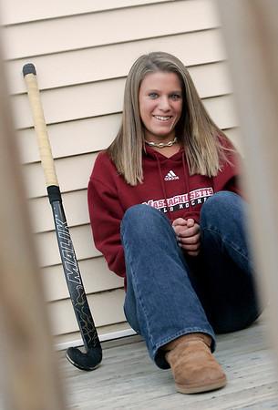 Peabody: Bishop Fenwick field hockey player Kara Charochak, has received a scholarship to the University of Massachusetts. Photo by Deborah Parker/Salem News Thursday, February 19, 2009.