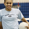Janel Rodriguez of the Peabody volleyball team. Photo by Deborah Parker/September 2, 2009