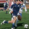 Lowell: Hamilton-Wenham's Joe Savasta runs the ball past Bromfield's Connor Davy during Saturday's Division 3 State Championship held in Lowell. Hamilton-Wenham lost 4-2. Photo by Deborah Parker/Salem News Saturday November 22, 2008.