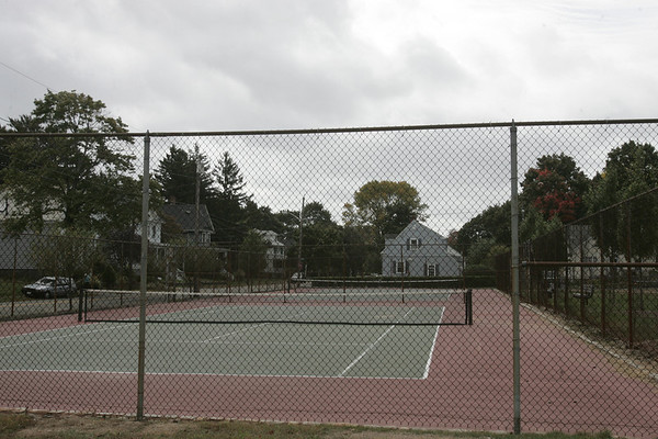 Cove Playground tennis courts are scheduled to be removed and replaced with three new tennis courts. Photo by deborah parker/october 1, 2010