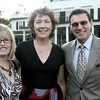 From left, Jacquie Cavanagh, Kathy and Jim Ciman, all of Danvers, pose together while attending the annual Baron Mayor Champagne Reception held at the Glen Magna Farms in Endicott Park Friday evening. Photo by Deborah Parker/June 19, 2009