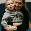 Kim Darling of Peabdoy and her son, Joshua, 2, enjoyed some time together during gymnastics class held at the McVann O'Keefe ice rink in Peabody. PHoto by Deborah Parker/January 5, 2009