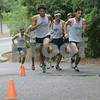 Wenham: Gordon College Men's Cross Country team makes their way up a hill during their meet against Endicott and New England Colleges Saturay morning at Gordon. Photo by Deborah Parker/Salem News Saturday, August 30, 2008