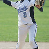 Peabody's Mary Kate Helas throws to first during yesterday's game against Danvers. Photo by Deborah Parker/May 11, 2010
