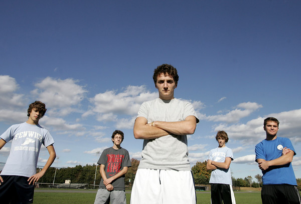Bishop Fenwick's Bill Harrington along with seniors Kevin Fini, Joe O'Brien, Joe Caruso and Andrew Reagan are part of the cross country team. Photo by deborah parker/october 15, 2010
