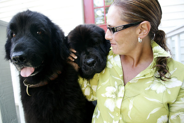 Dr. Shelli Russell and her two Newfoundland dogs, Sophie and Ella will be leading the parade for the Big Dog Show Community Party going on September 3-9. Photo by Deborah Parker/August 25, 2009