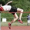 Beverly: Salem's Ben Dibble competes in the high jump during yesterday's meet held at Beverly High School. Photo by Deborah Parker/May 20, 2009.