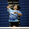 PEABODY ROP: Ginny Fleming of the Peabody volleyball looks to spike the ball during practice at the high school yesterday afternoon. Photo by Deborah Parker/September 2, 2009