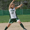 Pentucket's Julianne Meehan throws out a pitch during yesterday's game against Masconomet. Photo by Deborah Parker/may 7, 2010