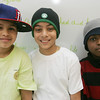 Bates School students, who typically aren't allowed to wear hats in school, had a Hats for Haiti Day at school on Tuesday. Kids and teachers could donate 50 cents to $2 to wear a hat to school with the proceeds benefiting UNICEF for Haiti relief. From left, fifth grade students Roberto Ortiz, Victor Acosta, and Zsamir Noel, show off their hats. Photo by Deborah Parker/February 9, 2010