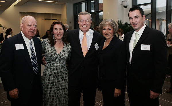 Danvers:From left, Raymond Norton of Rhode Island, Janel Nagtegaal of Winchester, Robert Norton C.E.O of North Shore Medical Center and Dianne Savastano, both of Manchester, and David Norton, also of Rhode Island, pose together during the Opening Celebration of the Mass General/North Shore Cancer Center Outpatient Care Thursday evening. Photo by Deborah Parker/May 14, 2009