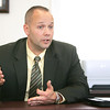 New Hamilton Police Chief Russell Stevens talks about his new job and what he will bring to the department. Photo by Deborah Parker/September 16, 2009