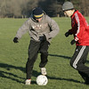 Boxford: Masco's Curtis Staub and STeve Karcunas work through a drill during the last practice of the season for the boy's soccer team. The team was preparing for Saturday's Division 3 State Title game. Photo by Deborah Parker/Salem News Friday, November 21, 2008