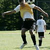 Hamilton-Wenham's Matt Herrick works on a drill in front of the goal during practice yesterday afternoon. Photo by Deborah Parker/September 1, 2009