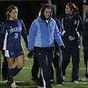 The Peabody girls soccer team walks off the field after losing teo Acton-Boxboro in Division 1 North soccer final held at Fraser Field in Lynn Monday evening. Photo by Deborah Parker/November 16, 2009