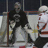 Marblehead's Tony Cuzner defends the net during a schrimmage held at Salem State Monday evening. photo by deborah parker/december 6, 2010