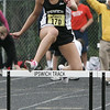 Ipswich's Melysa McFayden competes in the 400 hurdles during the Division 3 State Track Meet held at Ipswich High School Friday. Photo by Deborah Parker/May 29, 2009