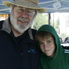 Ed Colley of Ipswich posed with his grandson Dylan Perry, 14, of Beverly while at their stand during the Olde Ipswich Days Arts and Crafts Fair Friday afternoon. Photo by Deborah Parker/July 24, 2009