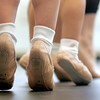 Marblehead: Students tip toe across the studio during dance class at the Boston Ballet School located in the new Marblehead YMCA.  Photo by Deborah Parker/Salem News Thursday, February, 12, 2009.